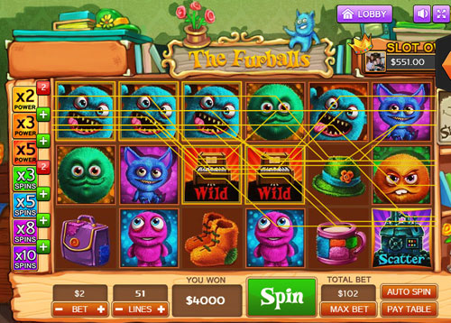 Big Win in Funnatica Casino Slots