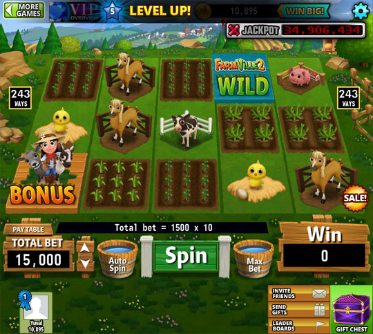 Enjoy the Amazing Farmville Slots in Hit it Rich