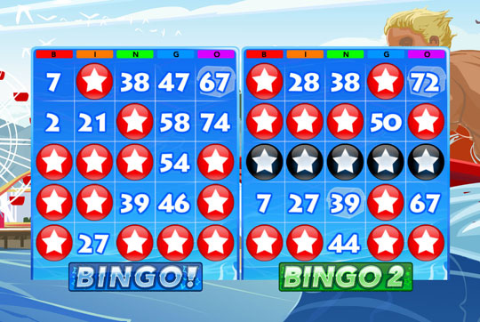 Multiple Win Lines in Bingo Rush 2