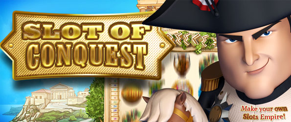 Slots of Conquest - Enjoy a fantastic animated slots game and take over Europe as you spin and win.