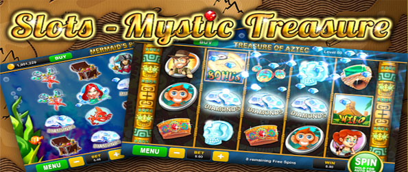 Slots Mystic Treasure - Win Big on Fun Slot Machines Free on Facebook.
