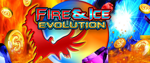 Fire and Ice Evolution Slots - Enjoy a unique gambling stage set into the origins of space in this wonderful slots title.