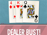 Dealer bust in Blackjack